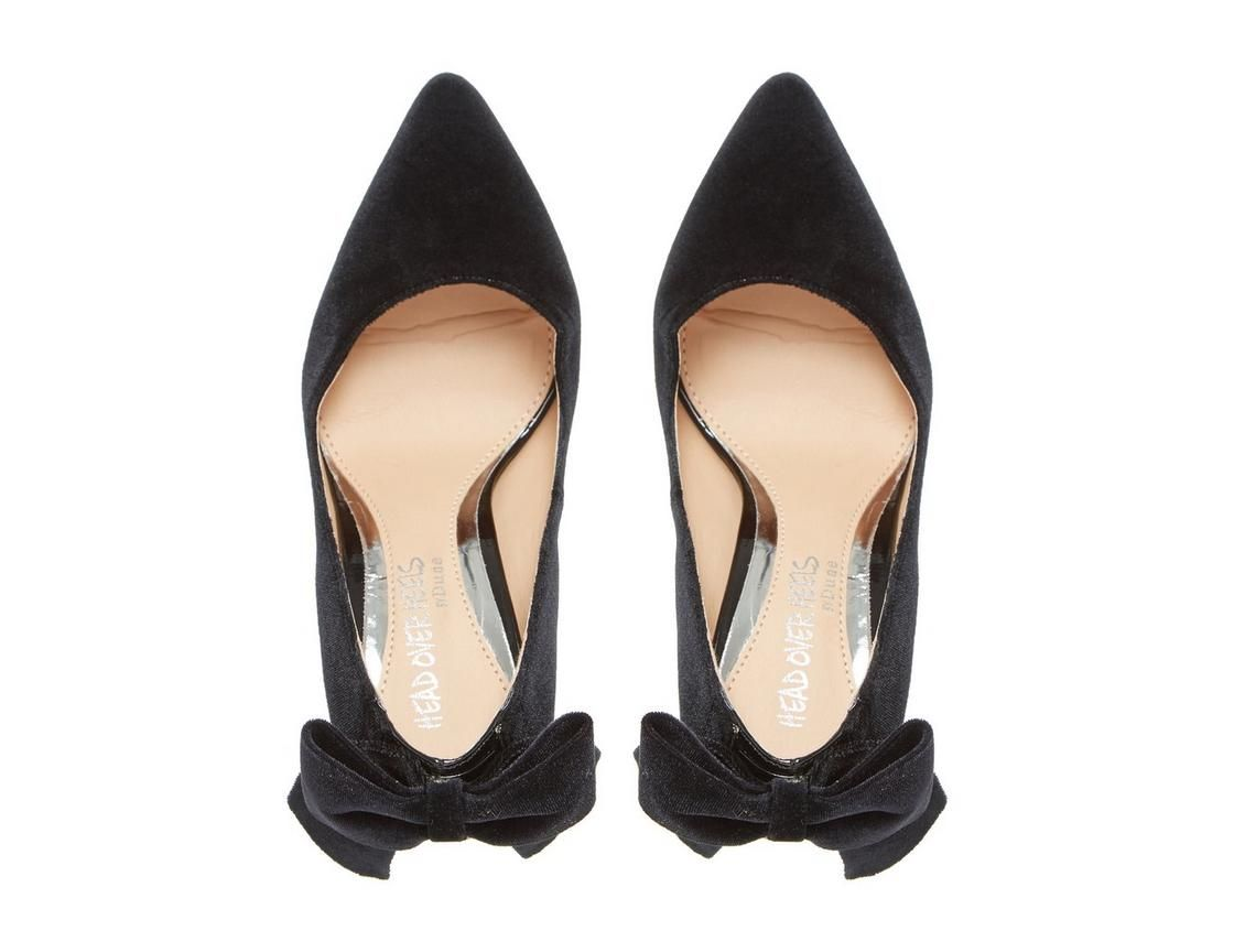 a4542835c1e ASHLEIGH - Bow Back Pointed Toe Court Shoe