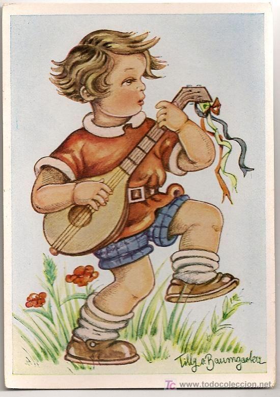 POSTAL / TILLY BAUMGARTEN HINDL. MUNCHEN 14 X 10 CM. (Postales - Niños)