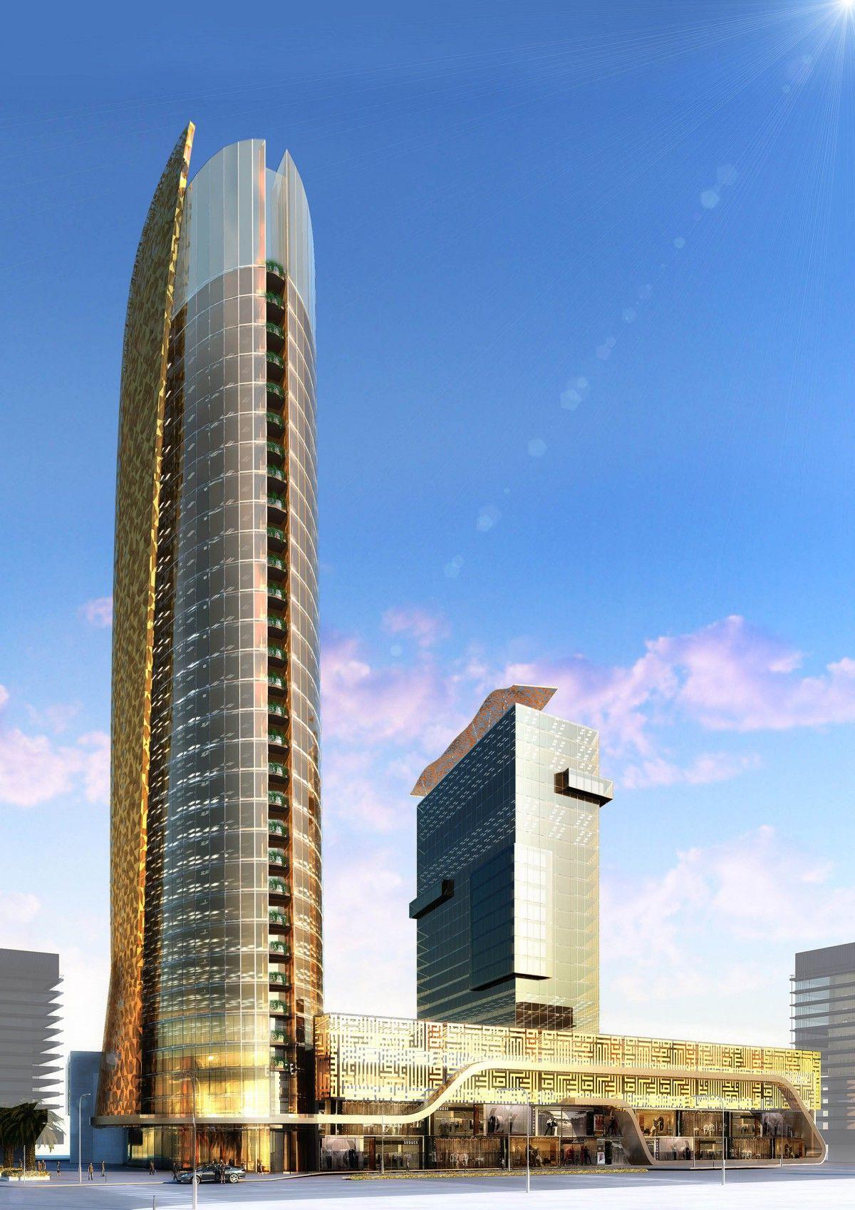 فندق وشقق فندقية الامير منصور متوقف الكورنيش الأوسط Future Buildings Jeddah Skyscraper
