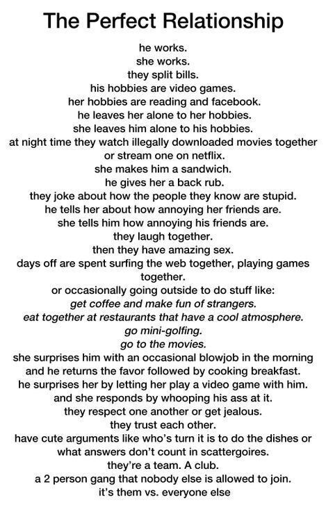 What I Want In A Relationship