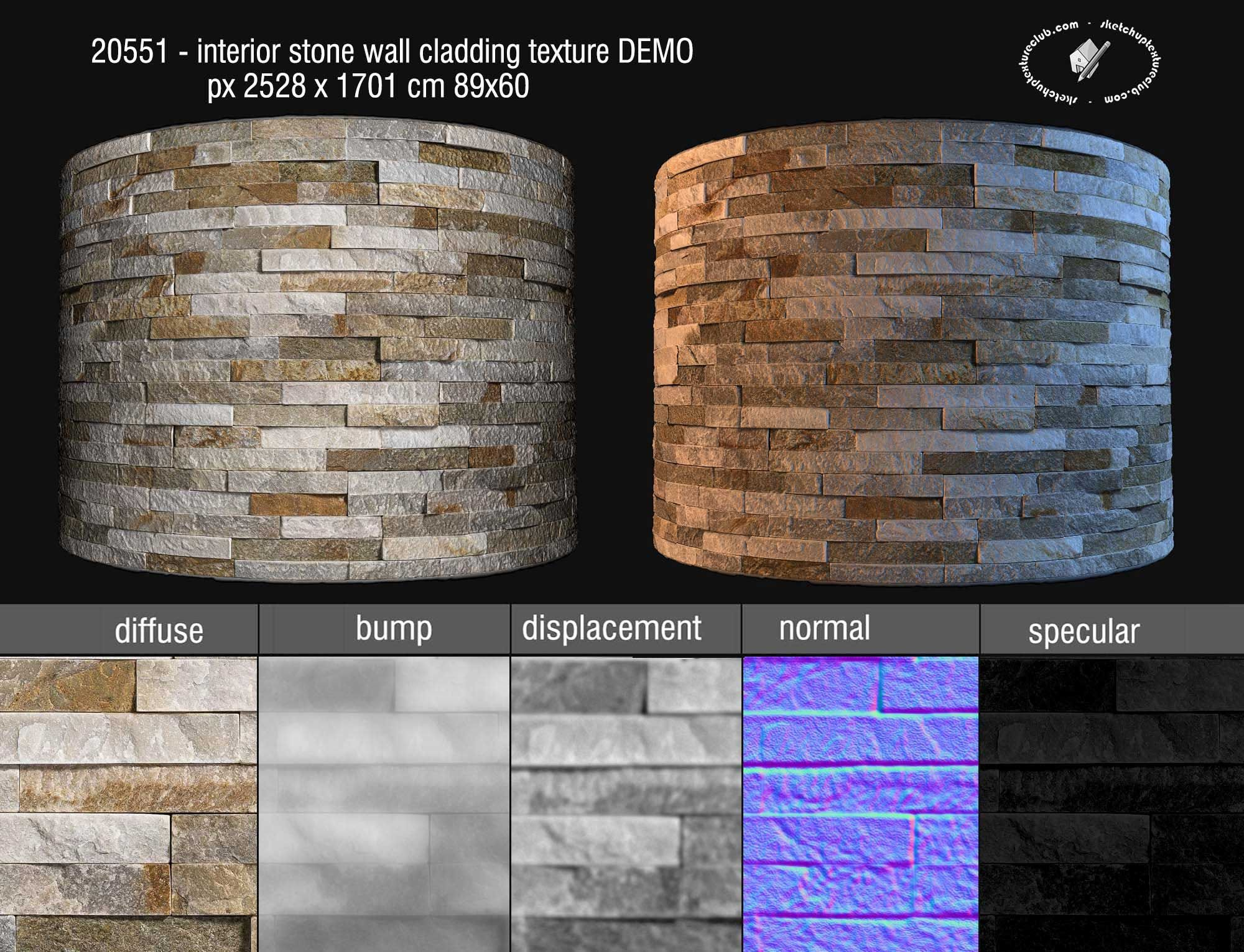 royalty free seamless texture interior stone wall cladding maps