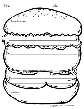 Hamburger Writing Template Writing Templates