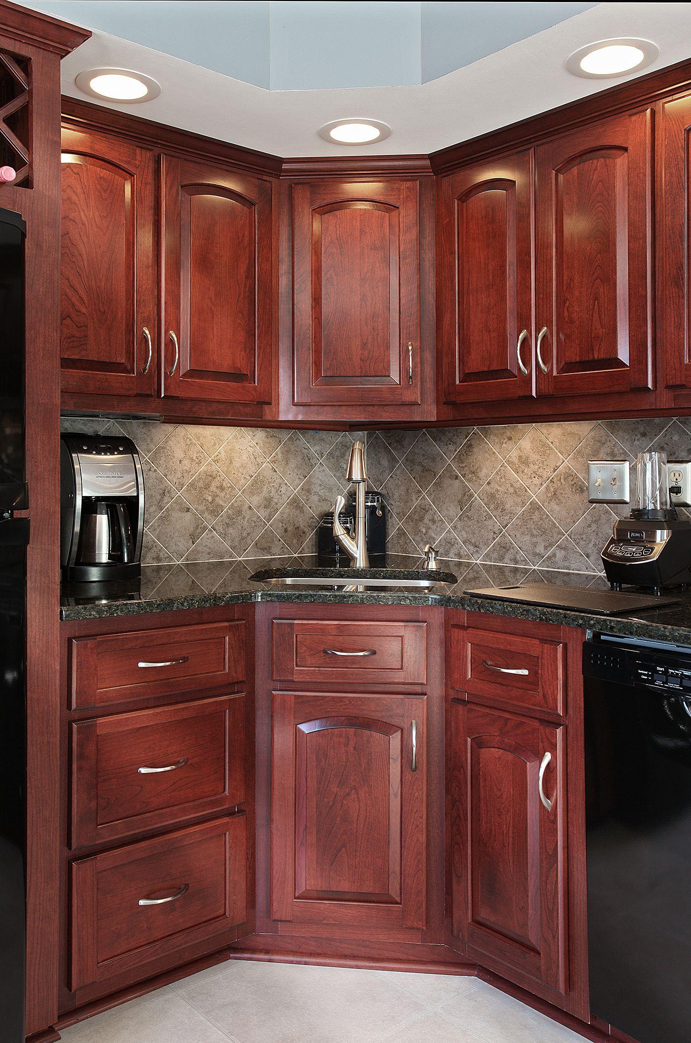 Cherry Cordovan Cabinet Refacing Cherry Cabinets Kitchen Kitchen Renovation Kitchen Remodel