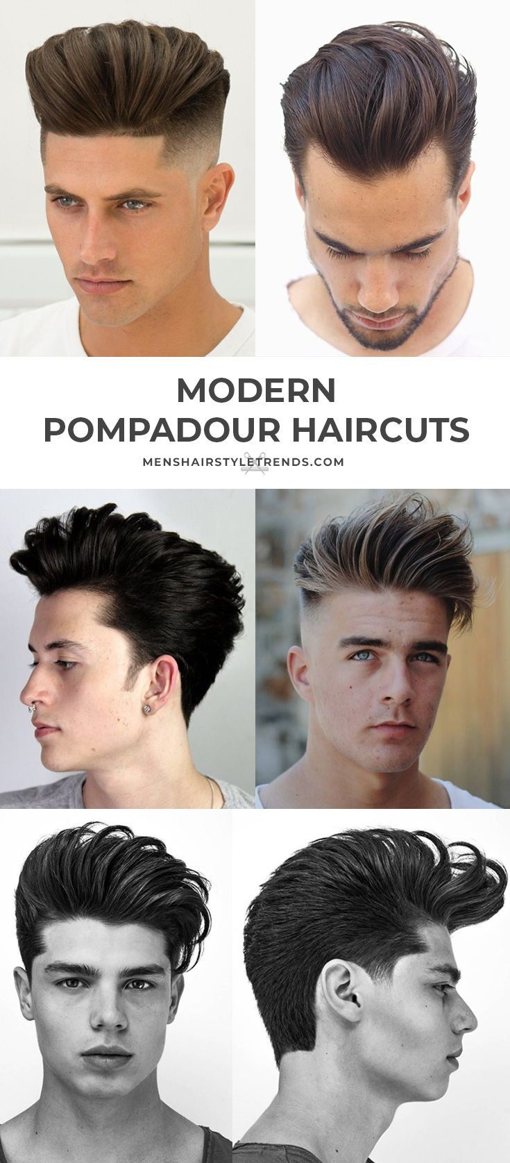 70 Pompadour Haircuts Ultimate Guide To Classic Modern Styles 2020 Pompadour Haircut Pompadour Hairstyle Mens Hairstyles Pompadour