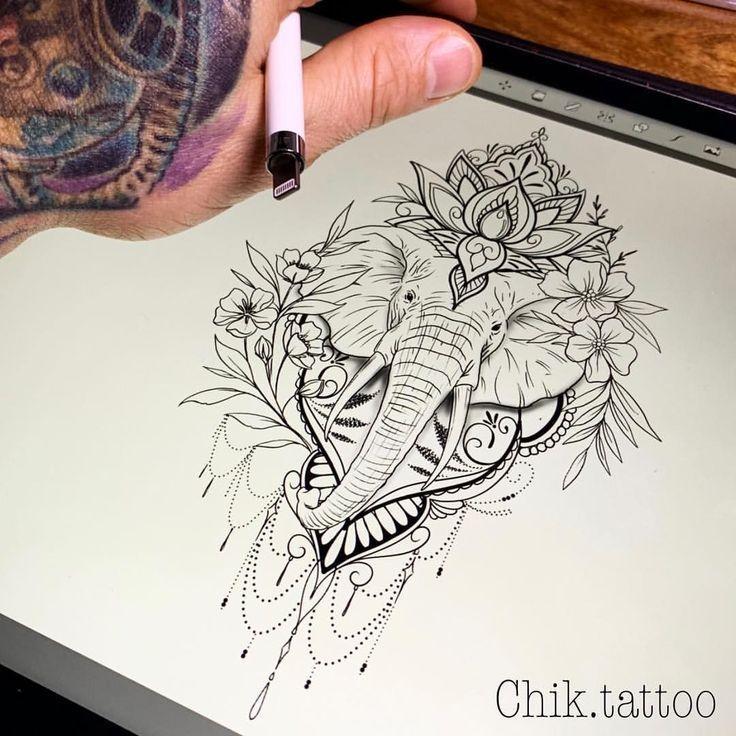 Elephant tattoos - elephants tattoo design  elephants tattoo design Ideas  Tattoos – Elephant tattoos