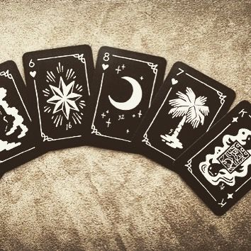 Black Hand Lenormand. You are compelled to desire this deck. #Lenormand #playingcards #cards #fortunetelling #divination #occult