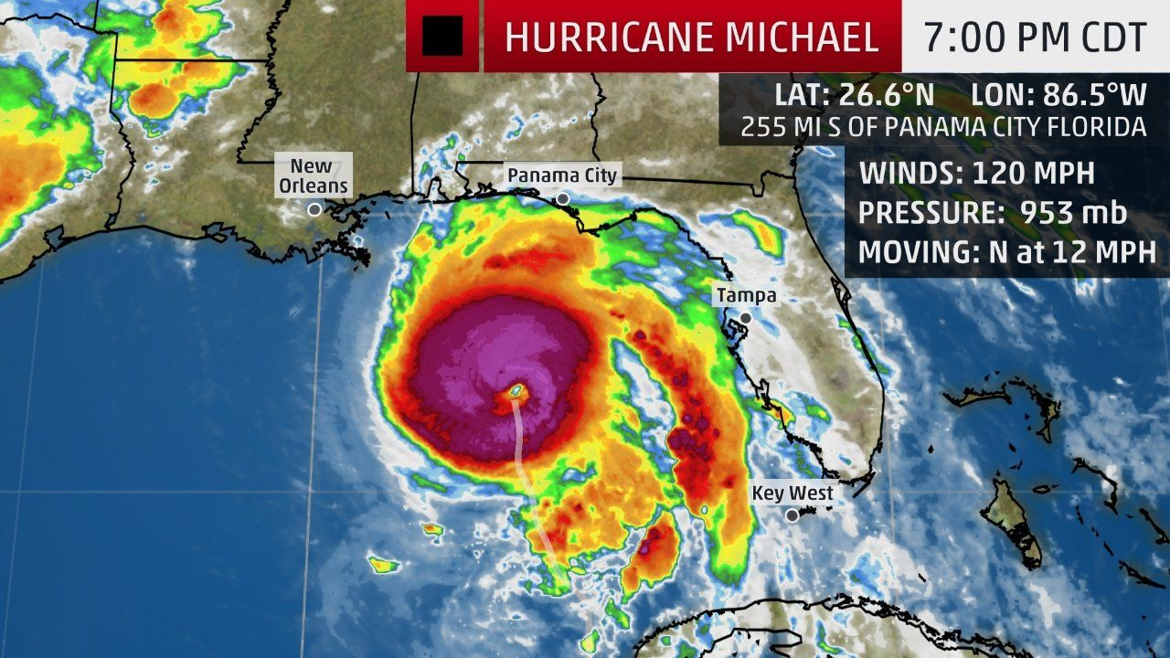 Michael Strengthens To An Extremely Dangerous Category 4 Hurricane The Weather Channel Storm Surge Hurricane Michael