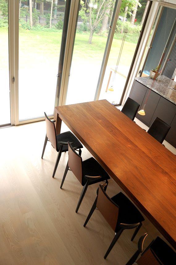 ウォルナット超特大ダイニングテーブルtypet w280cm カグオカ ダイニング 大きなダイニングテーブル リビング キッチン