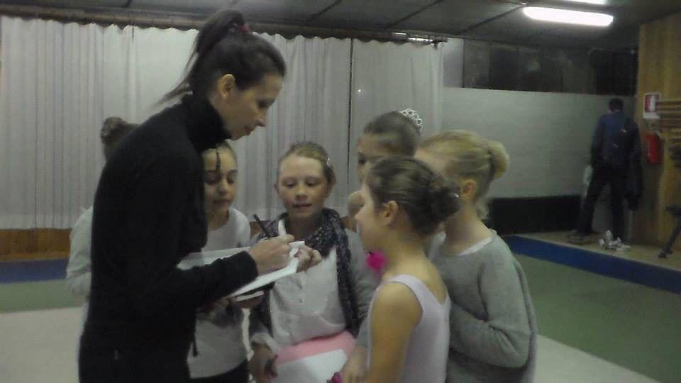 Lorena Baricalla - Autographs in the ballet room #Lorenabaricalla #LB