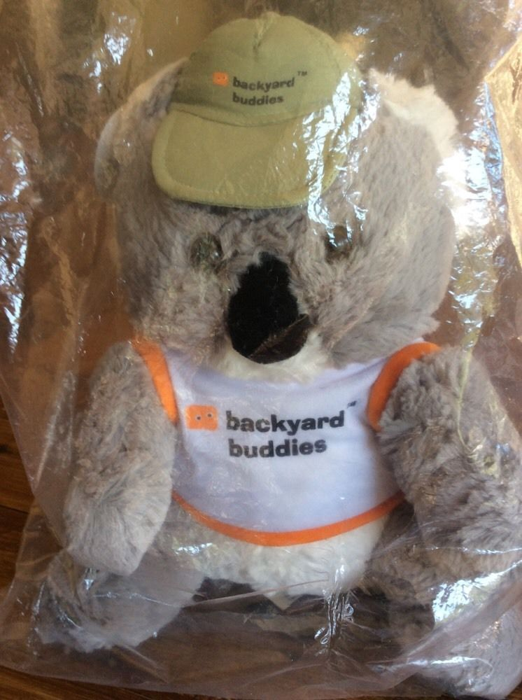 Backyard Buddies parks wildlife backyard buddies koala brand new in plastic bag