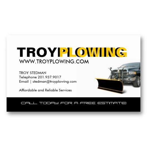 Snow plowing business card snow removal business cards pinterest snow plowing business card colourmoves Images