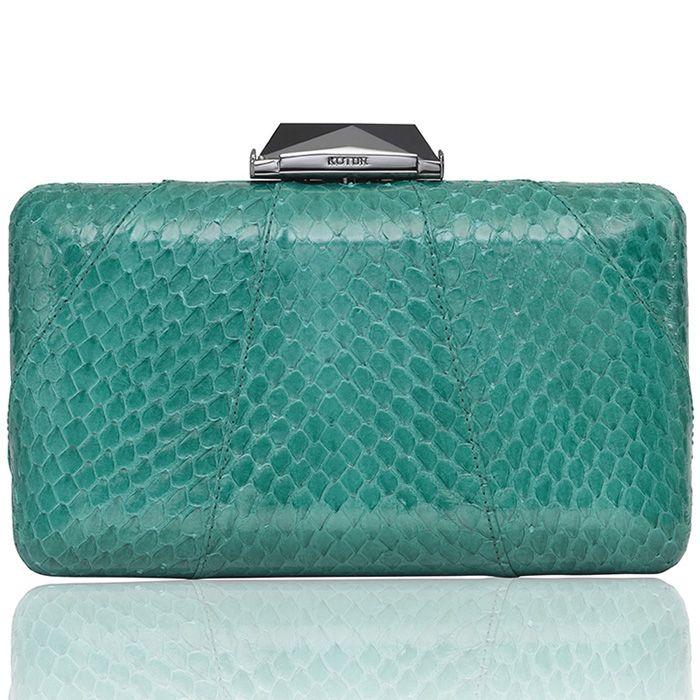 f456bfa330f Espey Snakeskin in Emerald Green - KOTUR Clutch & Minaudiere #KOTUR #FW13 # Clutch #Handbag #Minaudiere