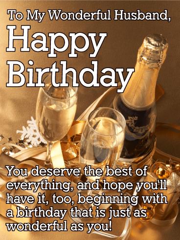 You deserve the best happy birthday wishes card for husband happy birthday wishes card for husband m4hsunfo