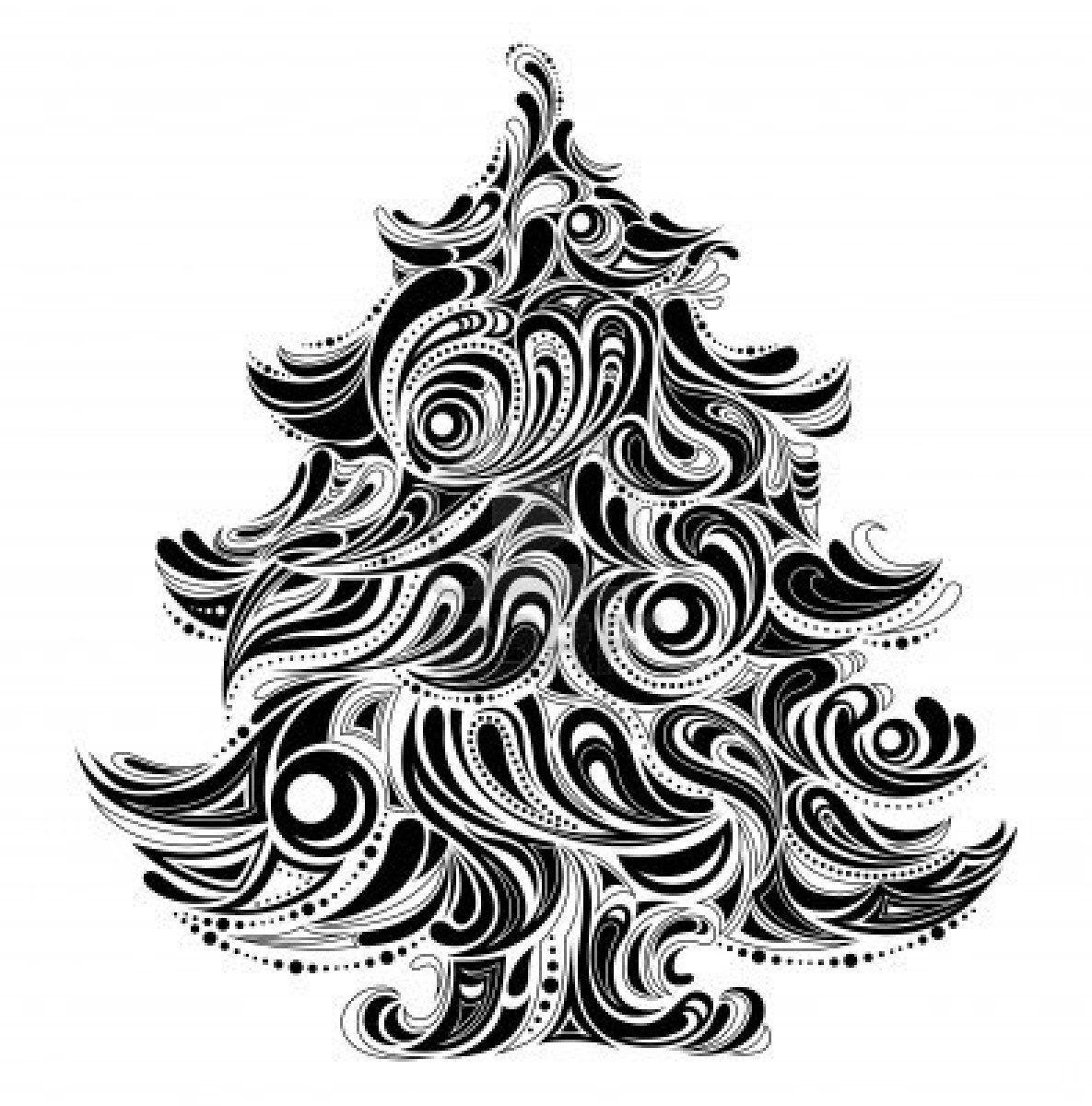 Stock Vector Photo christmas tree, Christmas tree