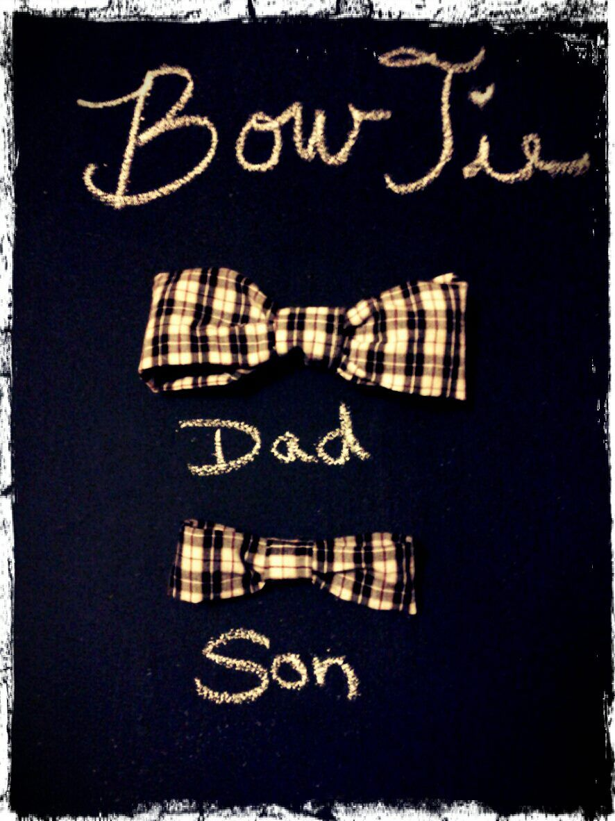 Bow Ties I made for my son and husband.