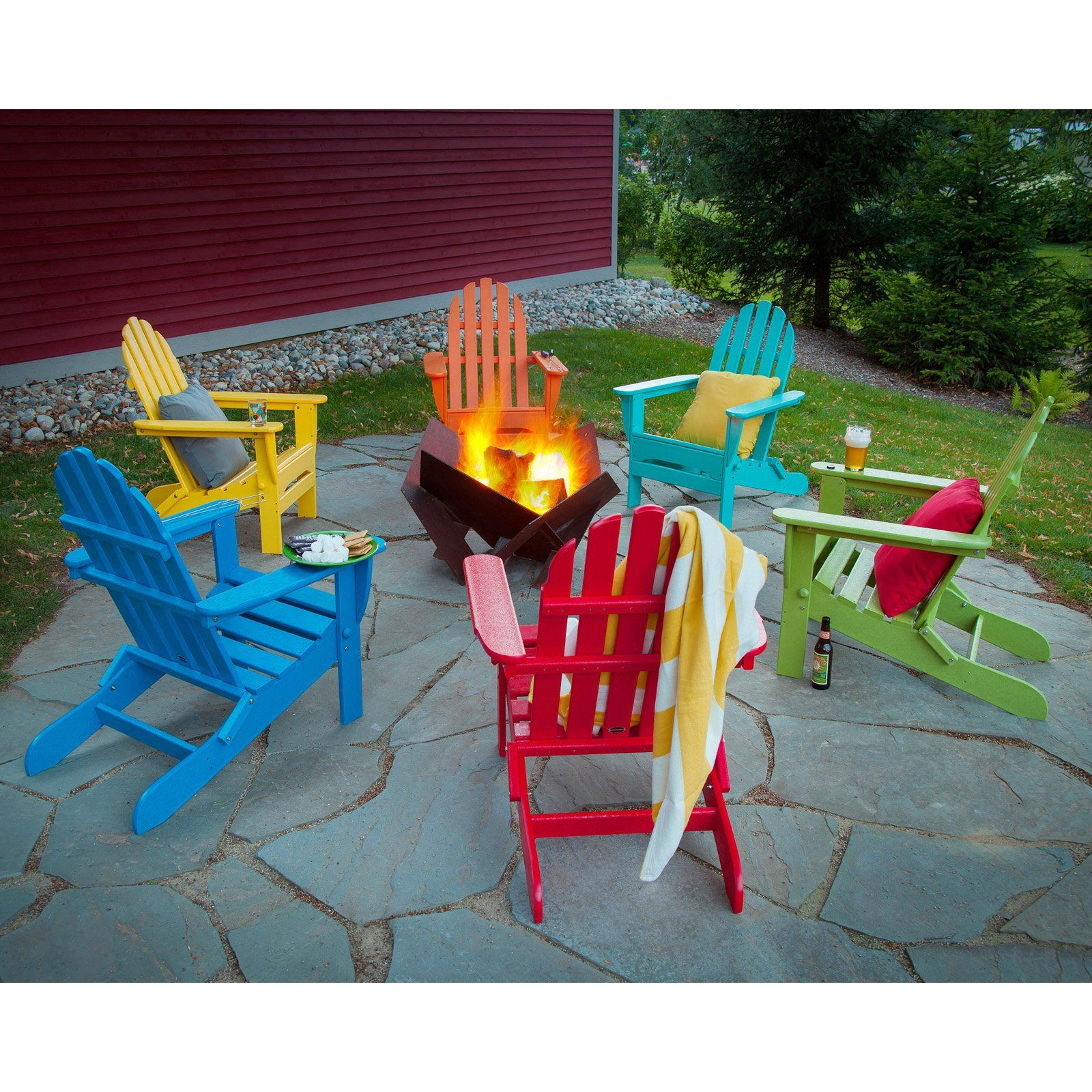POLYWOOD® Recycled Plastic Classic Foldable Adirondack Chair   $269 @