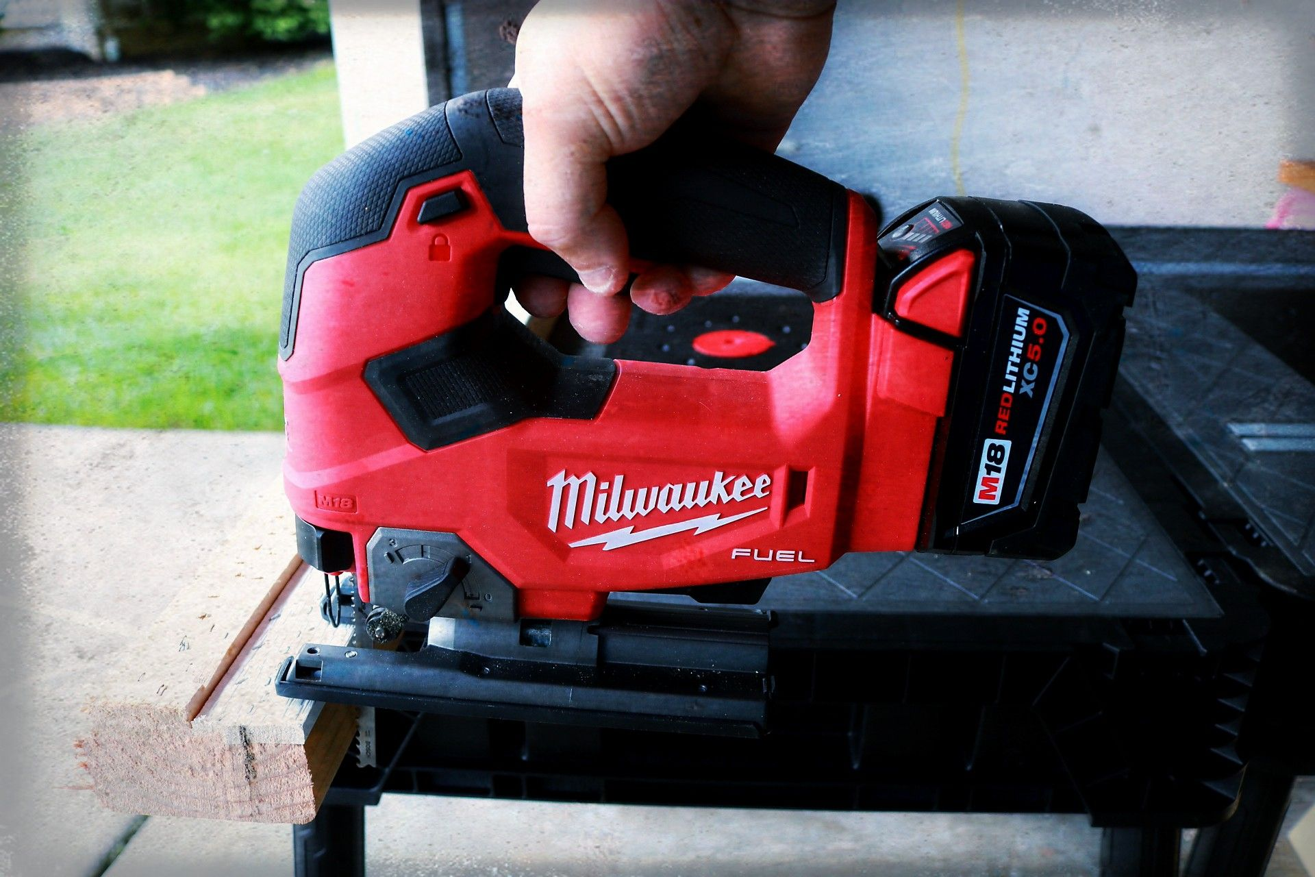 Milwaukee Tools M18 Fuel Cordless Jigsaw With Images Milwaukee Tools Outdoor Power Equipment Milwaukee