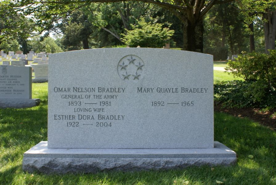 Grave Marker-Omar Bradley US 5-star general, (Normandy ...
