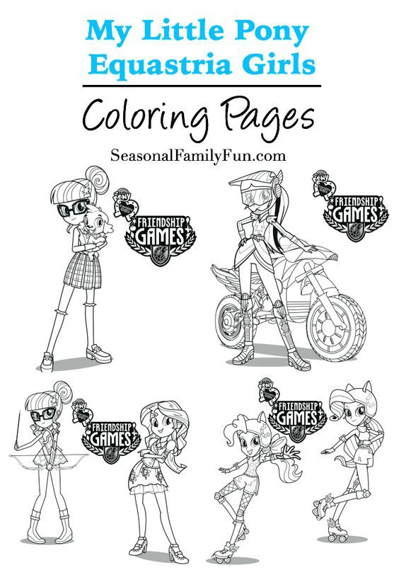 Equestria Girls Coloring Pages #mylittlepony #equastriagirls - new coloring pages girl games