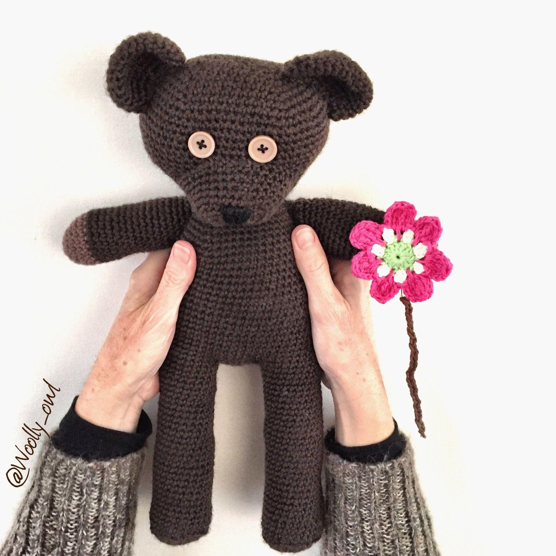mr bean teddy 100 wool 3 mm hook pattern by andrea. Black Bedroom Furniture Sets. Home Design Ideas