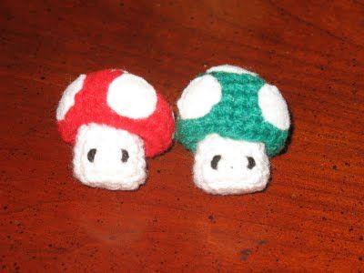 Diffusible Interfacing Mario Mushroom Crochet Pattern Crafts