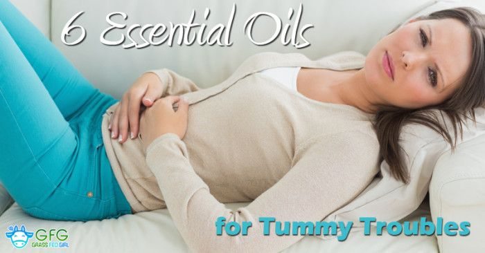 6 Essential Oils to Help with Digestive Upset, Gas and Bloating - Grass Fed Girl