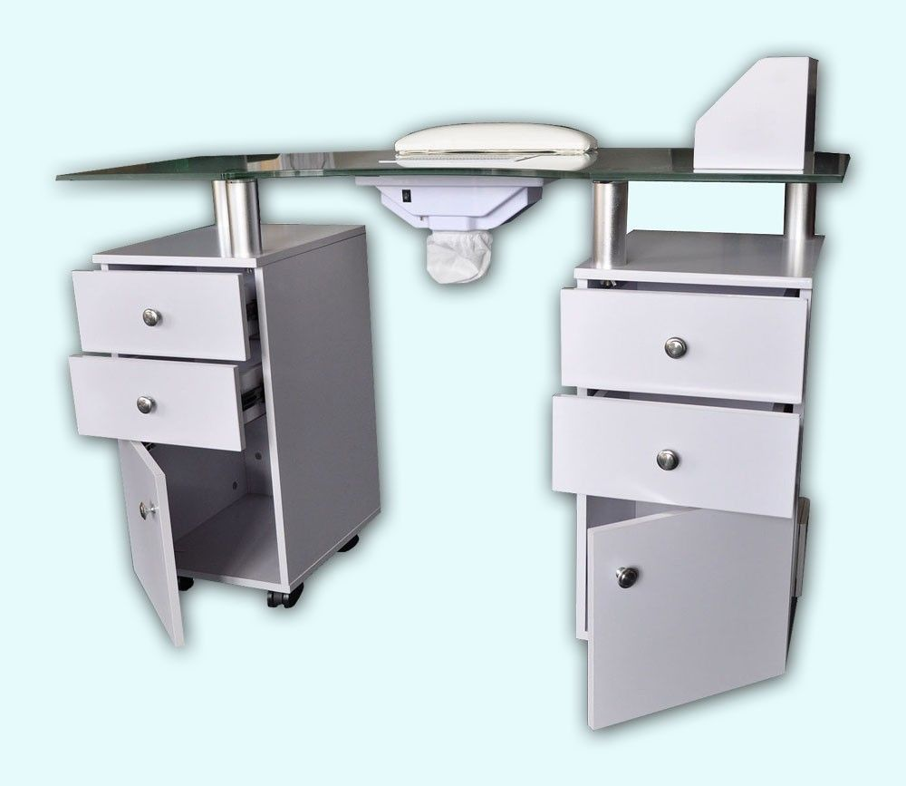 Hot Sell White Modern Manicure Table Manicure Chair Nail Salon Furniture Nail Salon Furniture Salon Furniture Manicure Table