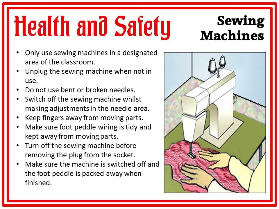 Sewing Machine Safety PosterHealth And Safety Sewing Machine Health Inspiration Sewing Machine Health And Safety Poster