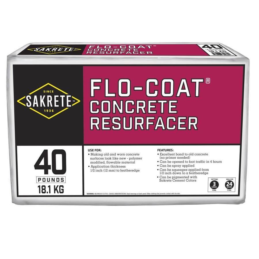 Sakrete Flo Coat 40 Lbs Cement Concrete Patch Lowes Com Concrete Resurfacing Concrete Diy Stained Concrete Floors