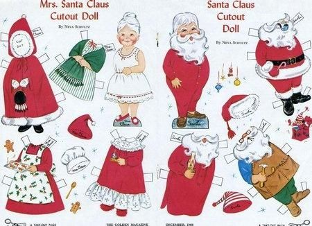 santa paper dolls