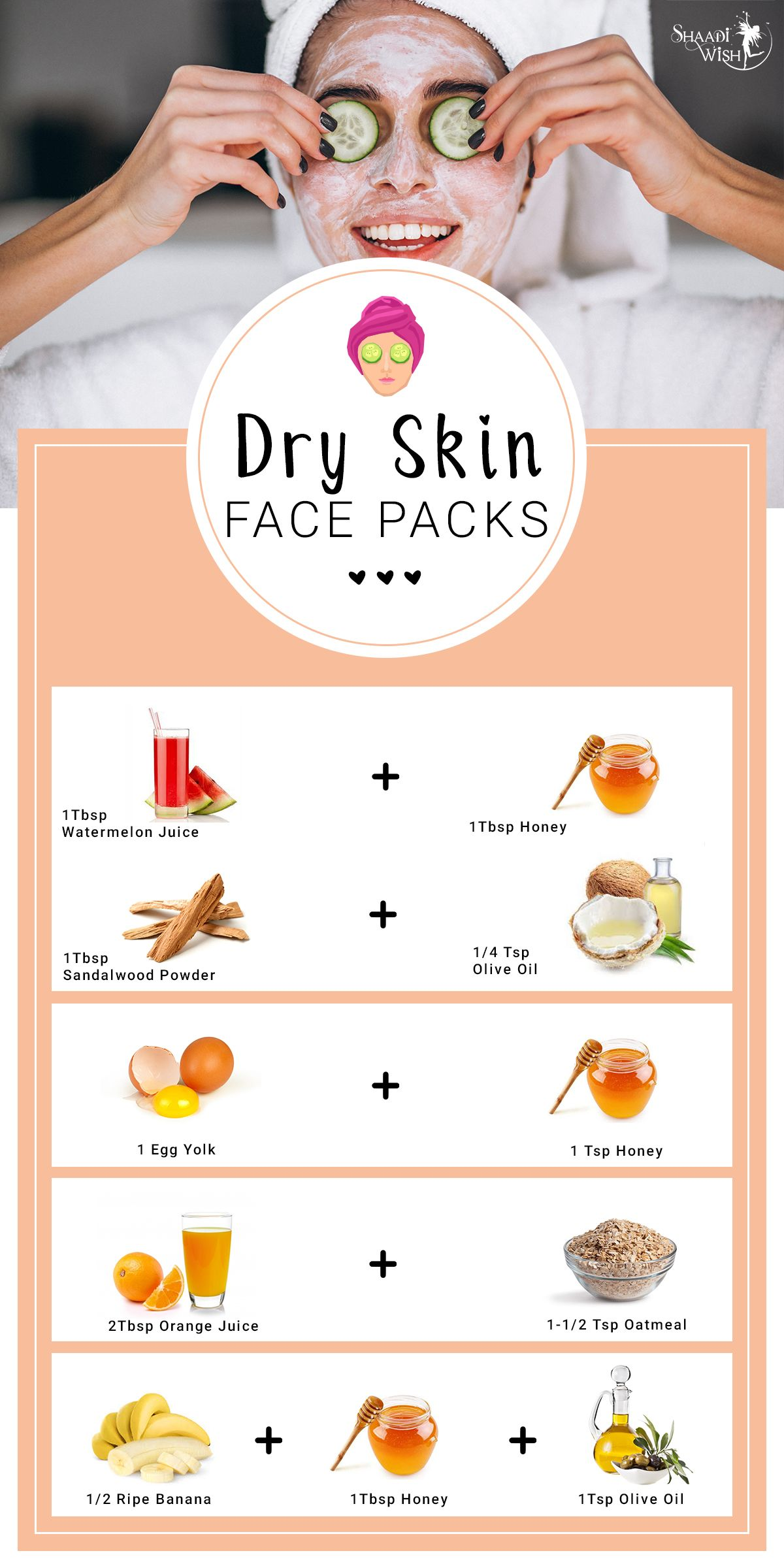 Amazingly Easy Homemade Face Packs For All Skin Types  Dry skin