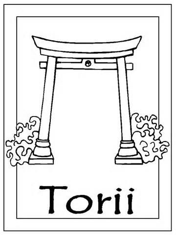 Japan Coloring Page Torii Coloring Pages Free Doodles