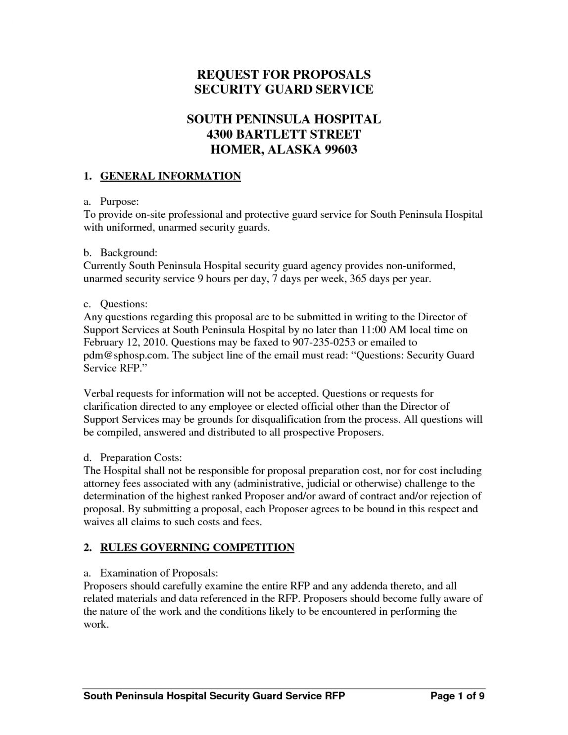 Security Guard Service Proposal Template Cover Letter Format Proposal Templates Security Guard Services
