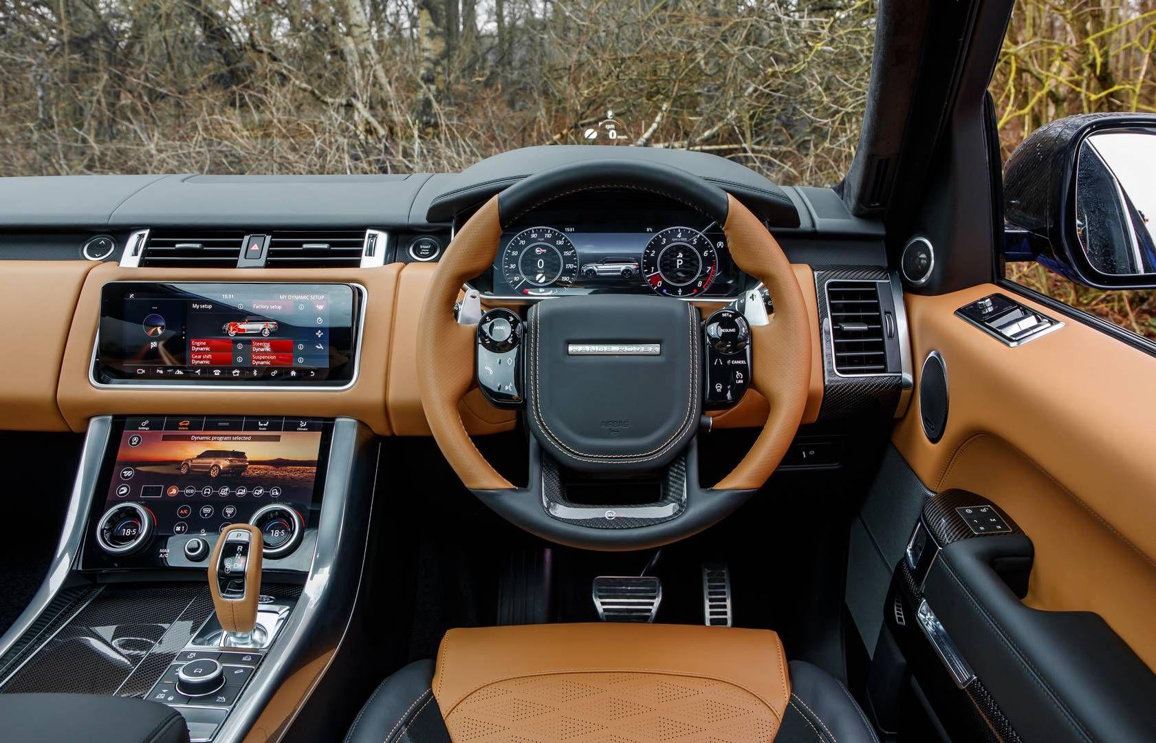 2018 Range Rover Sport Svr Review Gtspirit Range Rover Range Rover Interior Range Rover Sport 2018