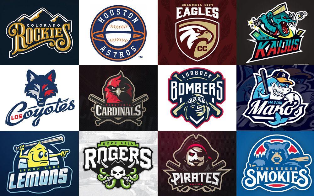 A Collection Of 60 Baseball Logo Designs And Identities Football Team Logos Baseball Teams Logo Identity Design Logo