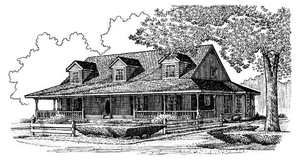 elevation of country farmhouse southern house plan 95666 dream rh pinterest com