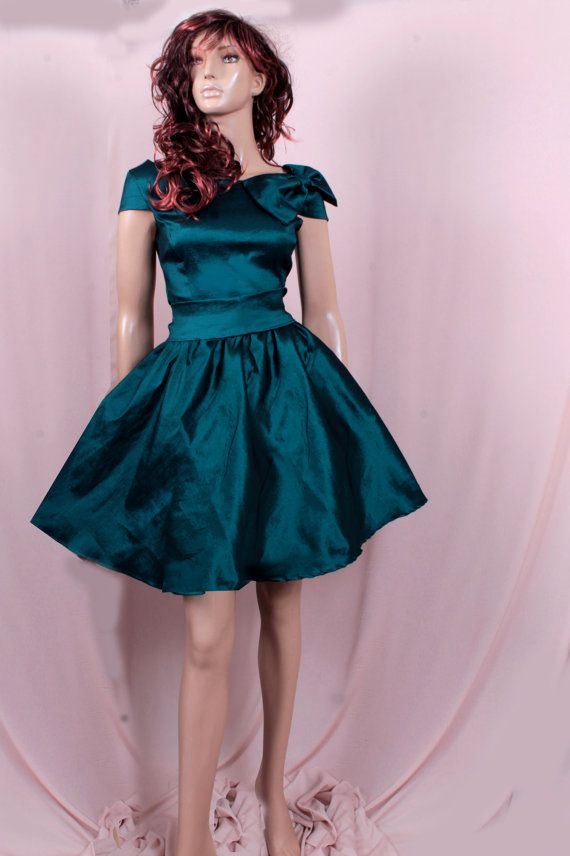 Plus Size Bridesmaid Dark Teal taffeta /party /prom /graduation/formal/ evening dress on Etsy, $88.57 AUD