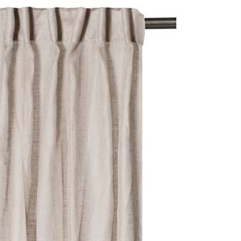 Dalsland Curtain With Heading Tape And Channel Clay White