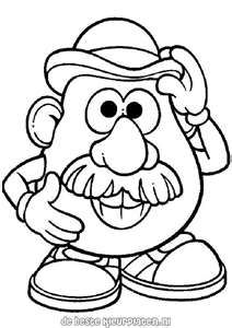 Mr Potato Head Coloring Pages Toy Story Coloring Pages