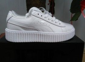 new style 33313 94ff4 Puma Rihanna X Creepers Casual Shoes Leather All White ...