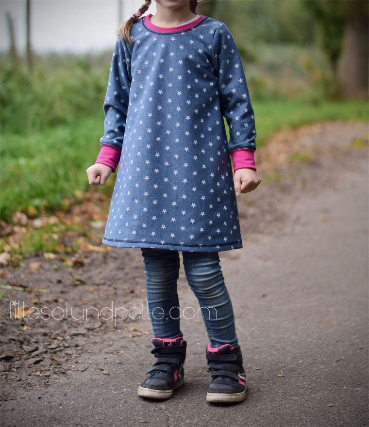Schnittmuster Ebook Nähen Kinder Mädchen Tunika Tunika-Kleid Jersey ...