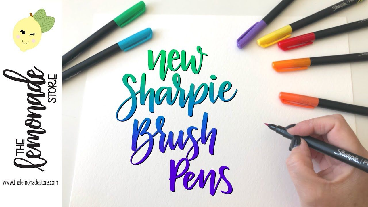 New Sharpie Brush Pen Demo Blending Markers Brush Tip Pens