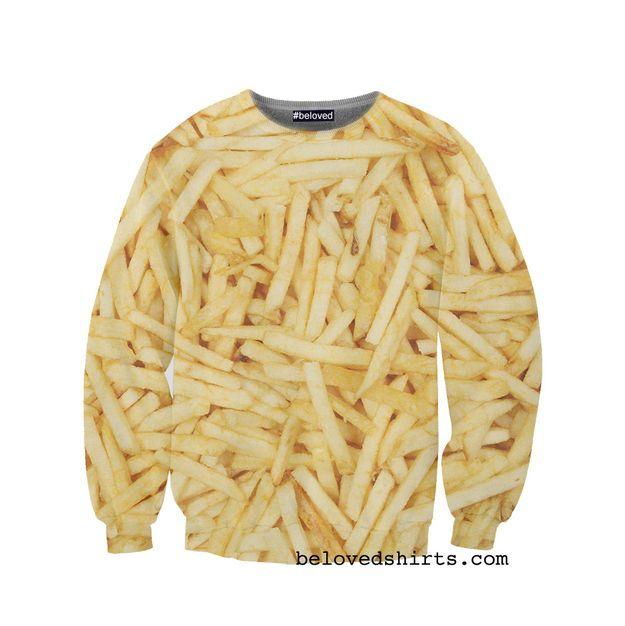 La sudadera es muy informal. Es amarilla y tiene papas fritas en la sudadera. Yo prefiero la sudadera de papas fritas cuando yo estoy muy perezoso. Tambien es muy interesante.