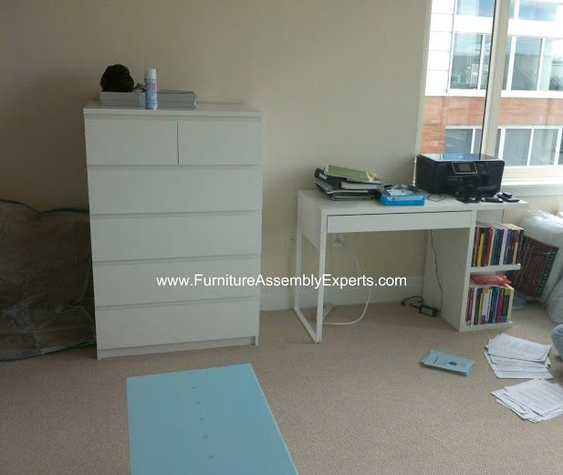 Ikea Hemnes Chest Of Drawers And Ikea Micke Desk Assembled