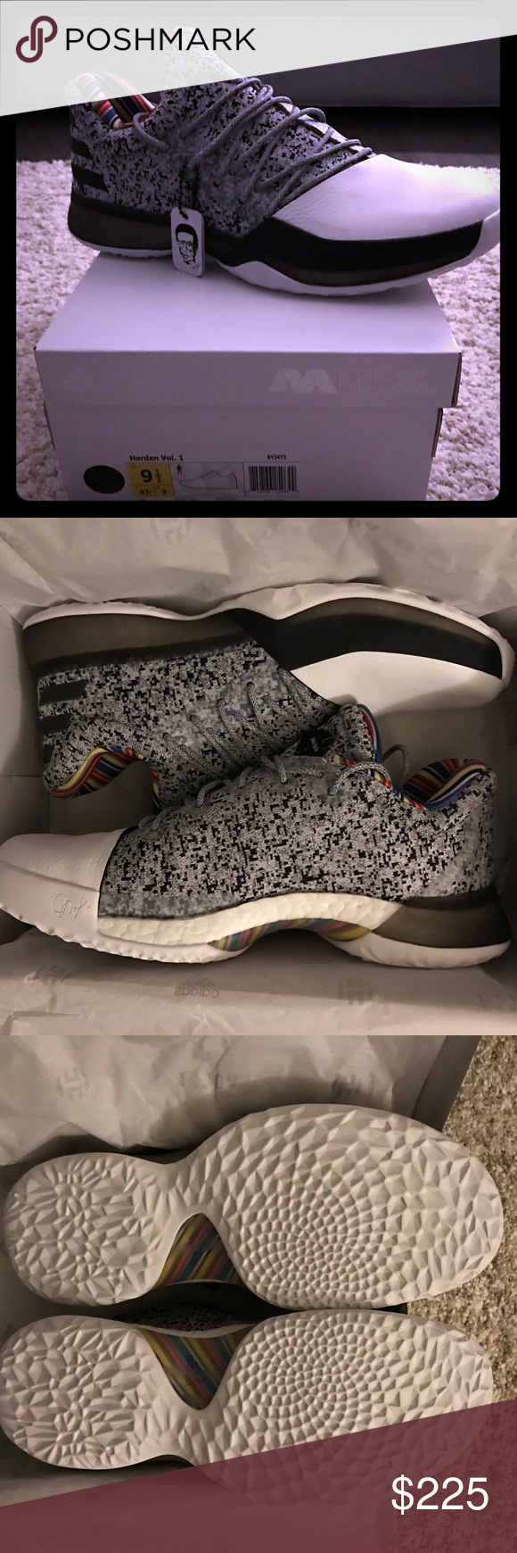 the latest 94ad1 87157 Adidas Harden Vol. 1 Arthur Ashe Tribute Pack BRAND NEW Adidas Harden Vol. 1