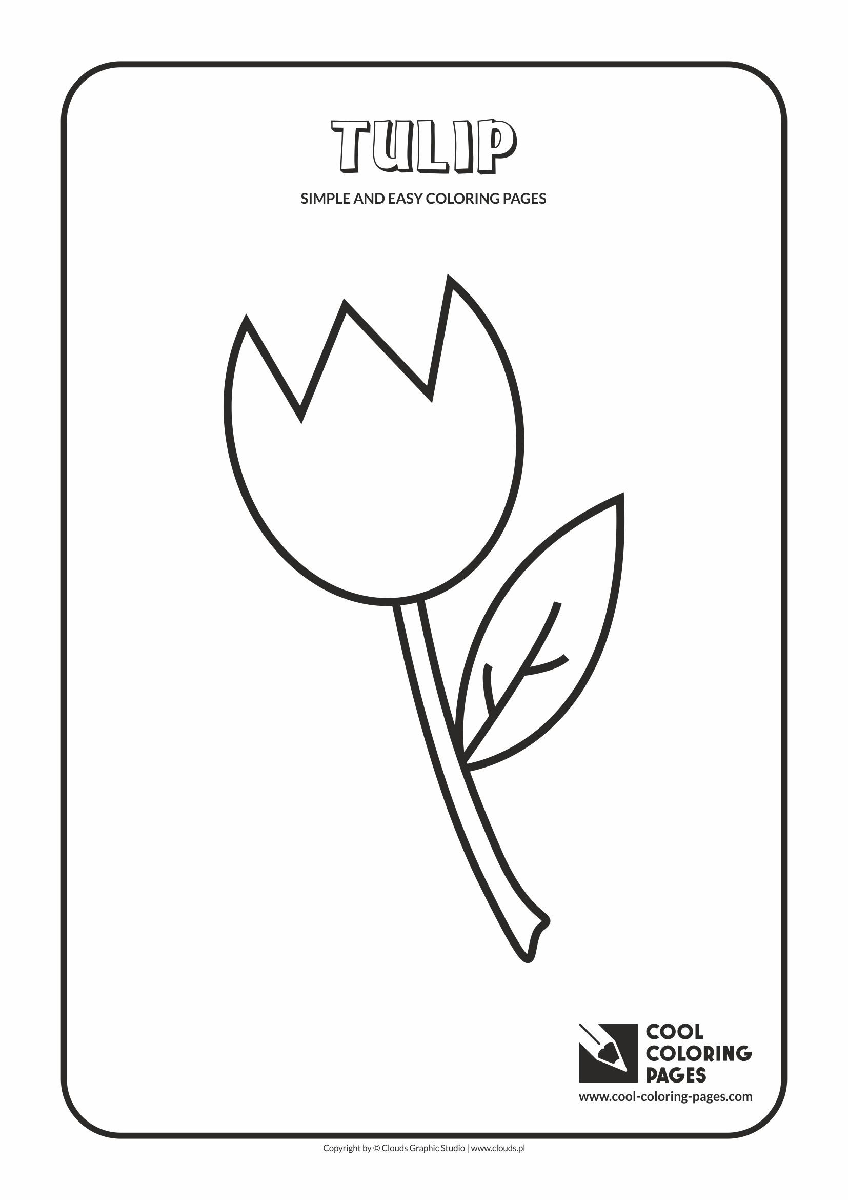 Easy coloring pages for toddlers - Simple And Easy Coloring Pages For Toddlers Tulip