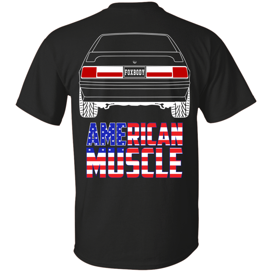 Foxbody Ford Mustang LX GT American Muscle Flag T Shirt