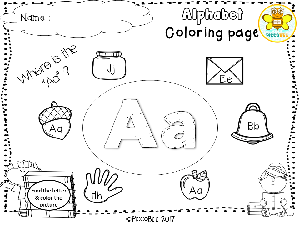 Freebie Alphabet Coloring Pages Pre K Kindergarten First Grade Pre Primer Primer 1st Grade Alphabet Coloring Pages Alphabet Coloring Color Worksheets