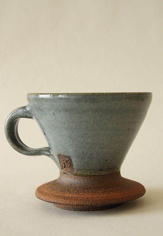 Coffee Pour over /& Mug set Coffee Lover Gift Coffee Dripper ceramic mug Ceramic Pour Over Coffee Maker mug hand thrown mug white mug
