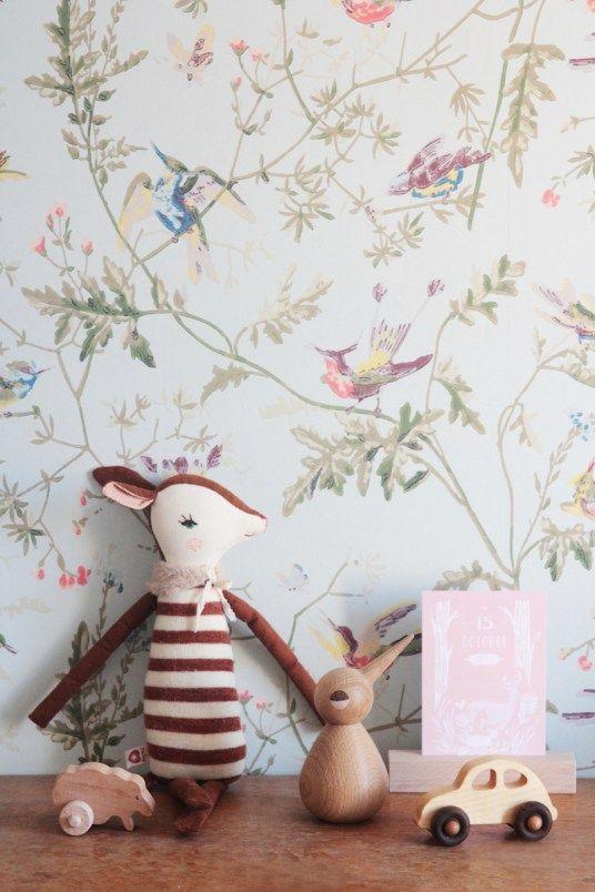 chambre-fille-vintage-retro-romantique-rose-vert-menthe | child ...